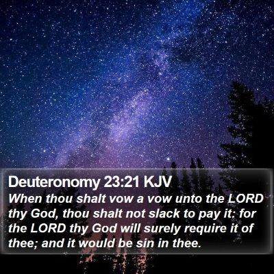 Deuteronomy 23:21 KJV Bible Verse Image