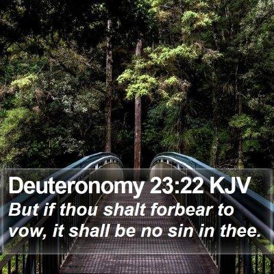 Deuteronomy 23:22 KJV Bible Verse Image