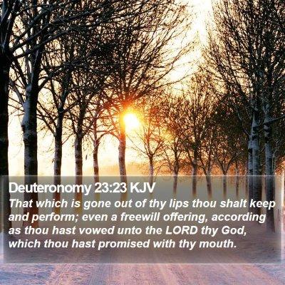 Deuteronomy 23:23 KJV Bible Verse Image
