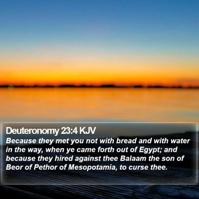Deuteronomy 23:4 KJV Bible Verse Image