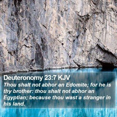 Deuteronomy 23:7 KJV Bible Verse Image