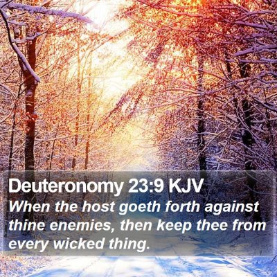 Deuteronomy 23:9 KJV Bible Verse Image