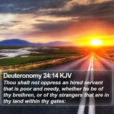 Deuteronomy 24:14 KJV Bible Verse Image