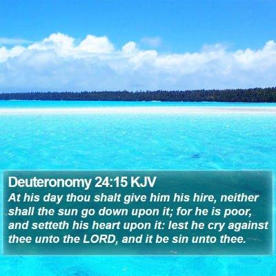 Deuteronomy 24:15 KJV Bible Verse Image