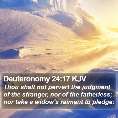 Deuteronomy 24:17 KJV Bible Verse Image