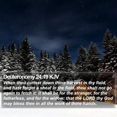Deuteronomy 24:19 KJV Bible Verse Image