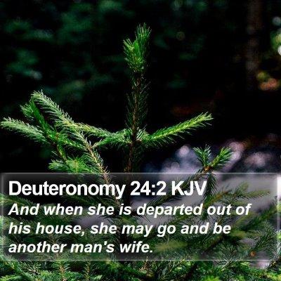 Deuteronomy 24:2 KJV Bible Verse Image