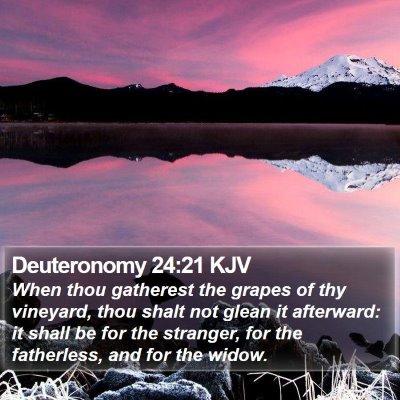 Deuteronomy 24:21 KJV Bible Verse Image