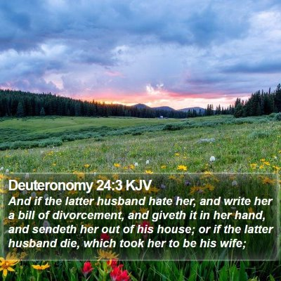 Deuteronomy 24:3 KJV Bible Verse Image