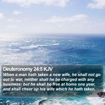 Deuteronomy 24:5 KJV Bible Verse Image