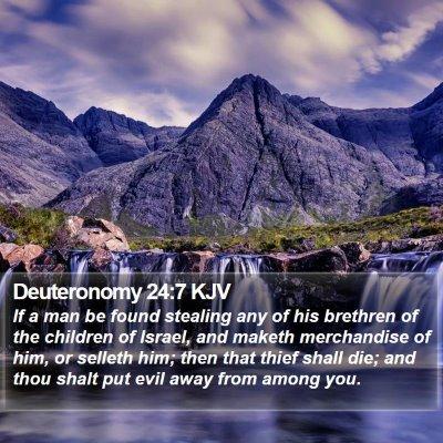 Deuteronomy 24:7 KJV Bible Verse Image