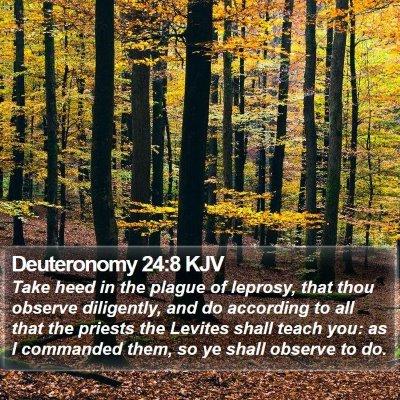 Deuteronomy 24:8 KJV Bible Verse Image