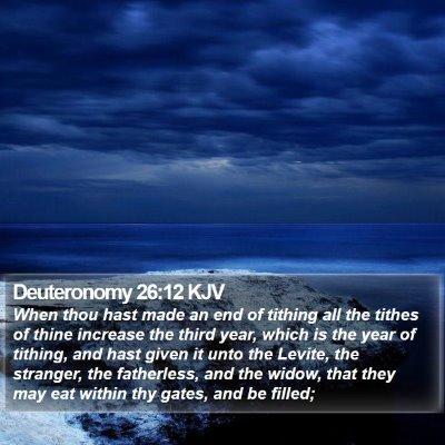 Deuteronomy 26:12 KJV Bible Verse Image