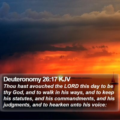 Deuteronomy 26:17 KJV Bible Verse Image