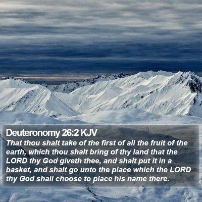 Deuteronomy 26:2 KJV Bible Verse Image