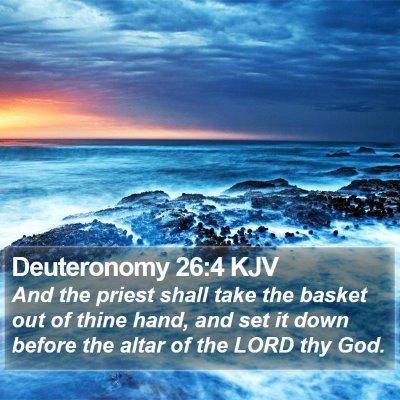 Deuteronomy 26:4 KJV Bible Verse Image