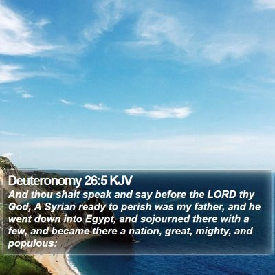 Deuteronomy 26:5 KJV Bible Verse Image