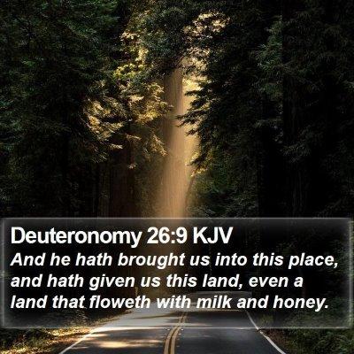 Deuteronomy 26:9 KJV Bible Verse Image