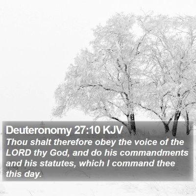 Deuteronomy 27:10 KJV Bible Verse Image