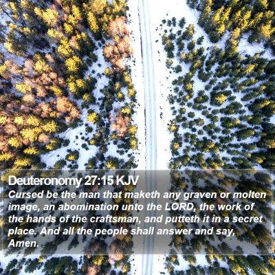 Deuteronomy 27:15 KJV Bible Verse Image