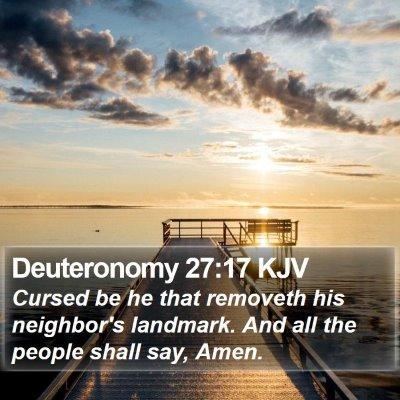 Deuteronomy 27:17 KJV Bible Verse Image