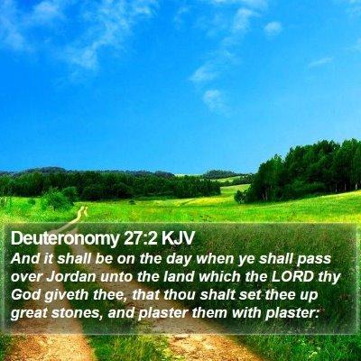 Deuteronomy 27:2 KJV Bible Verse Image