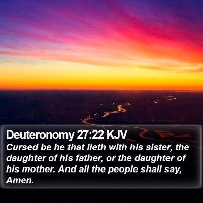 Deuteronomy 27:22 KJV Bible Verse Image