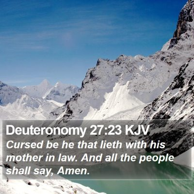 Deuteronomy 27:23 KJV Bible Verse Image