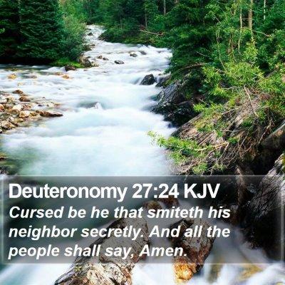 Deuteronomy 27:24 KJV Bible Verse Image