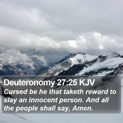 Deuteronomy 27:25 KJV Bible Verse Image