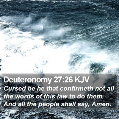 Deuteronomy 27:26 KJV Bible Verse Image