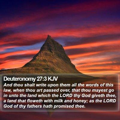 Deuteronomy 27:3 KJV Bible Verse Image