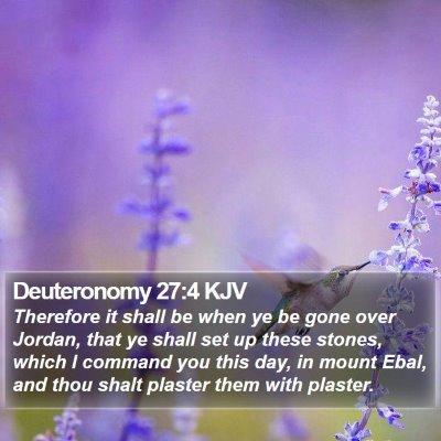 Deuteronomy 27:4 KJV Bible Verse Image