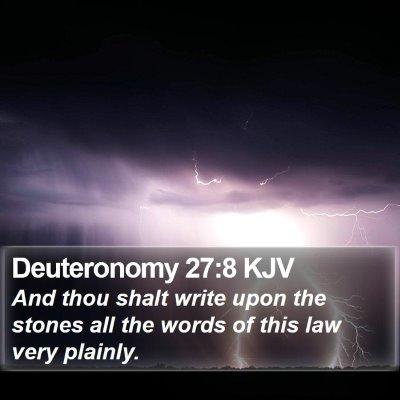 Deuteronomy 27:8 KJV Bible Verse Image
