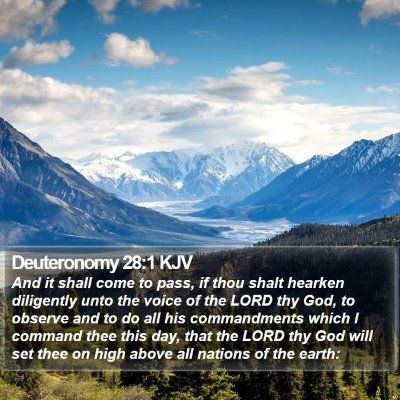 Deuteronomy 28:1 KJV Bible Verse Image