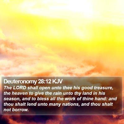 Deuteronomy 28:12 KJV Bible Verse Image