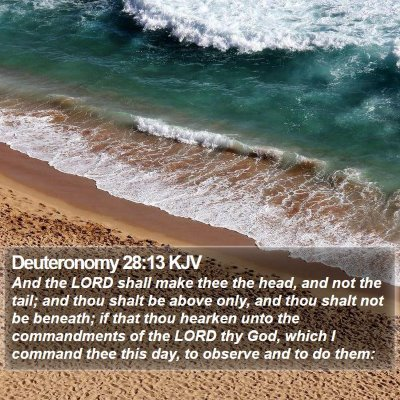 Deuteronomy 28:13 KJV Bible Verse Image
