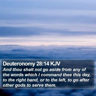 Deuteronomy 28:14 KJV Bible Verse Image