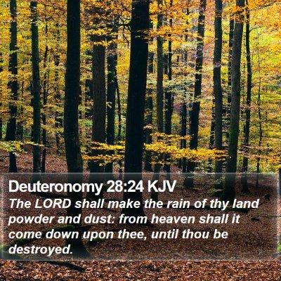 Deuteronomy 28:24 KJV Bible Verse Image