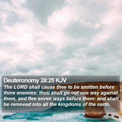 Deuteronomy 28:25 KJV Bible Verse Image