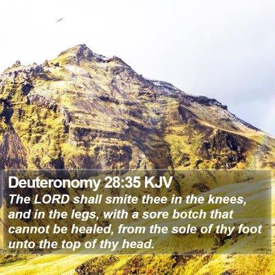 Deuteronomy 28:35 KJV Bible Verse Image