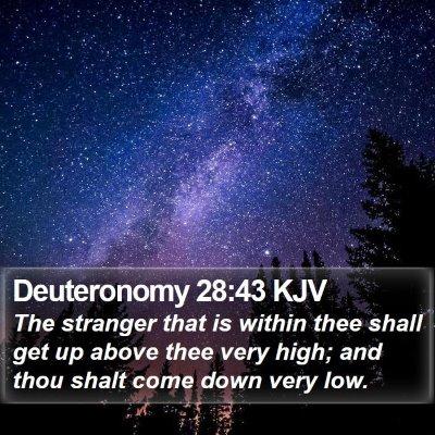 Deuteronomy 28:43 KJV Bible Verse Image