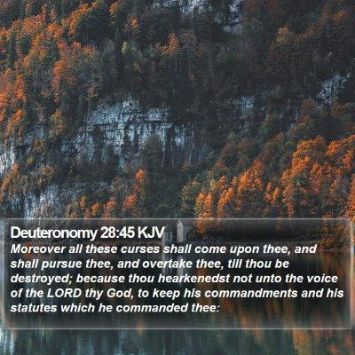 Deuteronomy 28:45 KJV Bible Verse Image