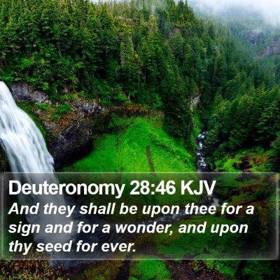 Deuteronomy 28:46 KJV Bible Verse Image