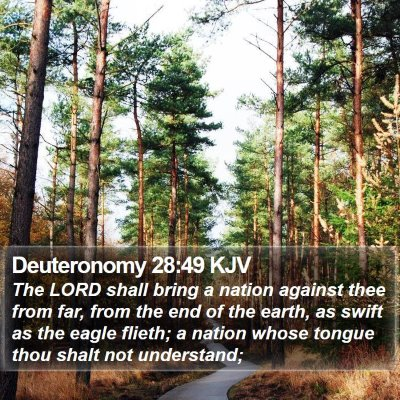 Deuteronomy 28:49 KJV Bible Verse Image
