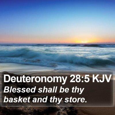 Deuteronomy 28:5 KJV Bible Verse Image