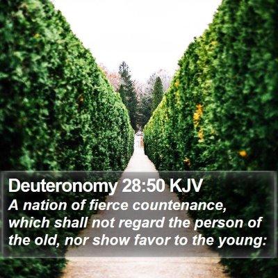 Deuteronomy 28:50 KJV Bible Verse Image