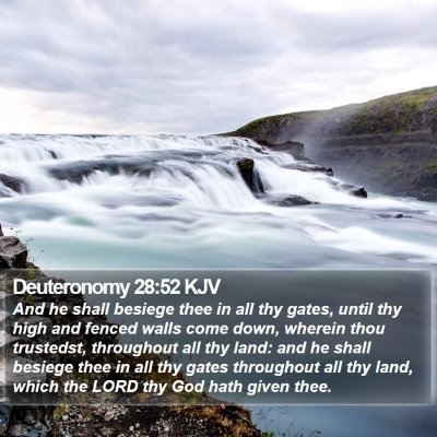 Deuteronomy 28:52 KJV Bible Verse Image