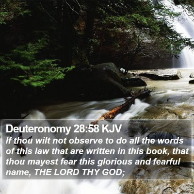 Deuteronomy 28:58 KJV Bible Verse Image