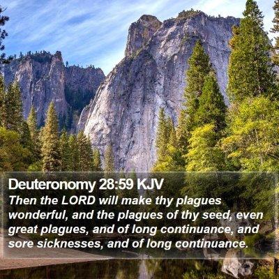 Deuteronomy 28:59 KJV Bible Verse Image